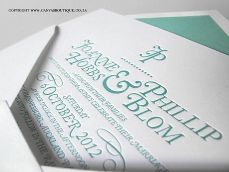 Phil & Joanne's Letterpress Wedding Invitations - Canvas Stationery Boutique