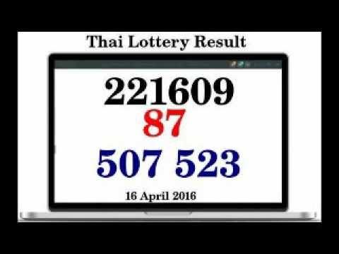 Thai Lotto Full Result 16 April 2016 | Thai Lottery Free Tips ...