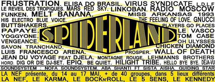 Spiderland. Du 14 au 17 mai 2014 à angouleme.