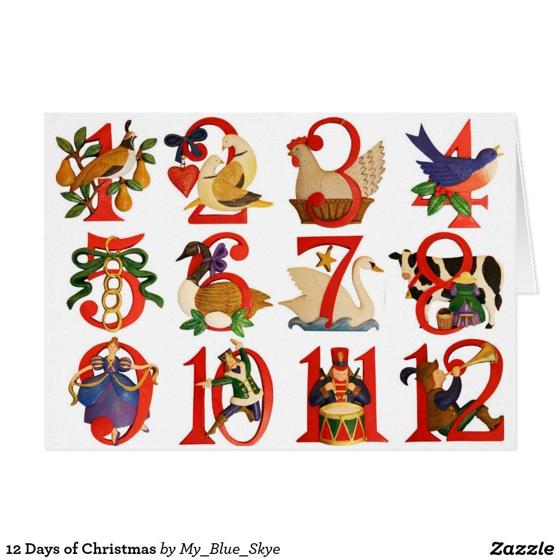 12 Days Of Christmas Holiday Card