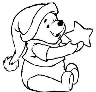 imagen de winnie pooh de navidad para colorear | NAVIDAD | Pinterest ...
