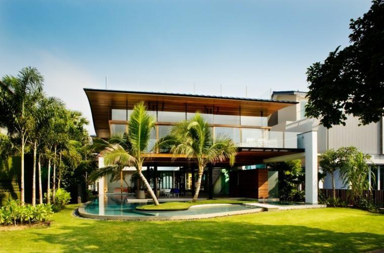 Moderne tuinen met zwembad stralende ontwerpen huis decoraties