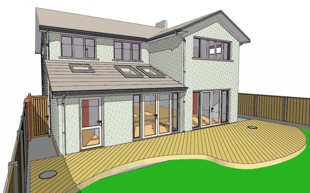 House Extension As Proposed Rear Home Decoration Pinterest