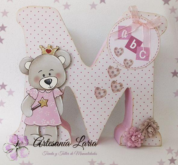 Artesan a laria letras decoradas para peques letras pinterest letras decoradas pecas y - Letras grandes decoradas ...