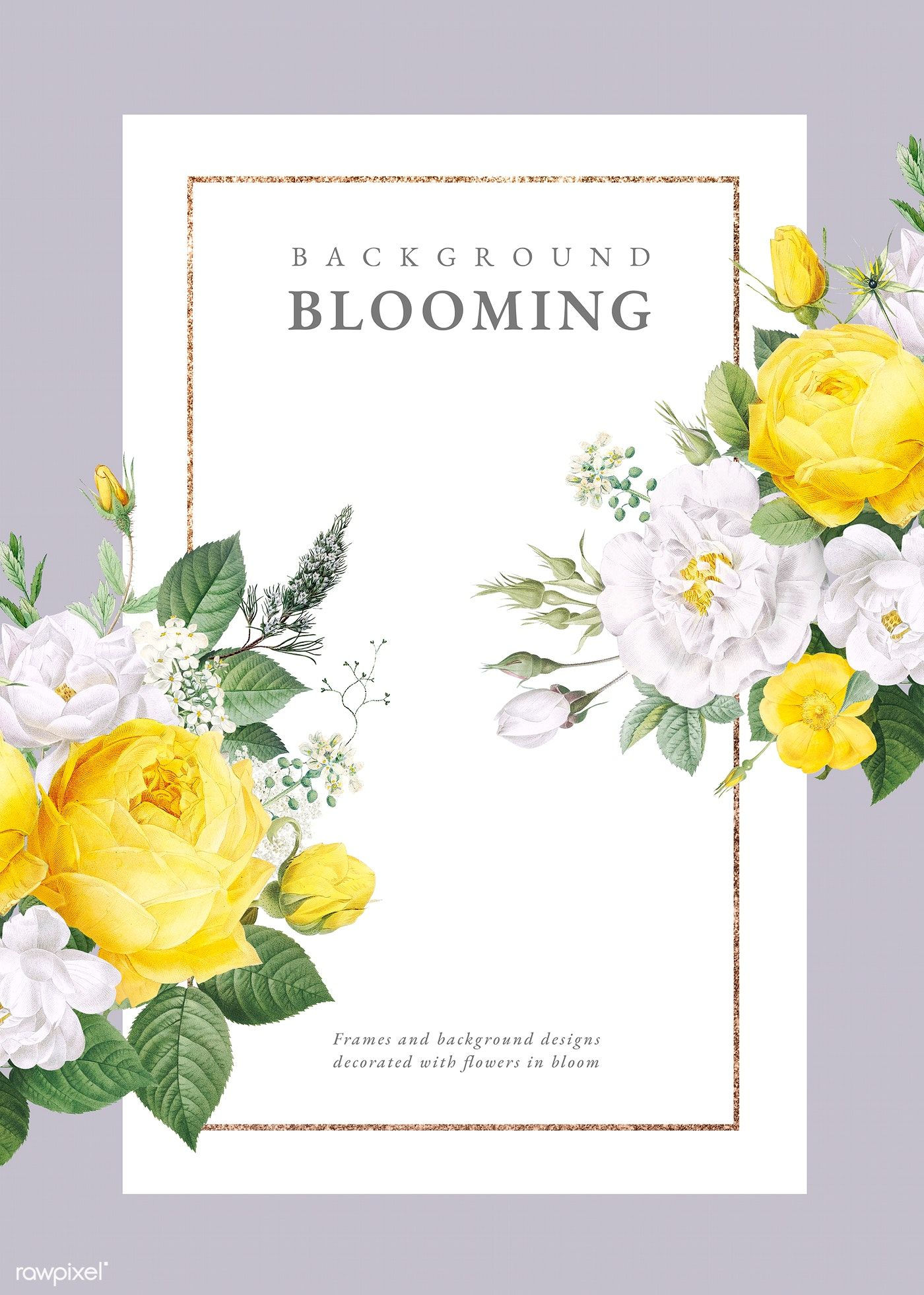 Download premium illustration of Floral wedding invitation
