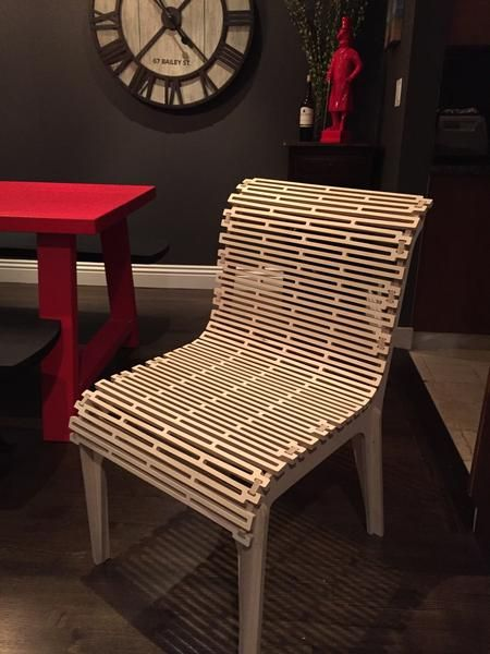 Alex Chair In 2020 Living Hinge Furniture Recycled Furniture