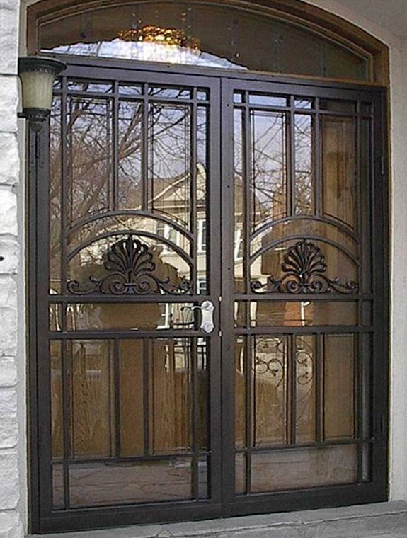 Double Security Screen Doors Metalex Security Doors Are Constructed With Extra Strong Hardened Double Front Doors Double Entry Doors Double Front Entry Doors