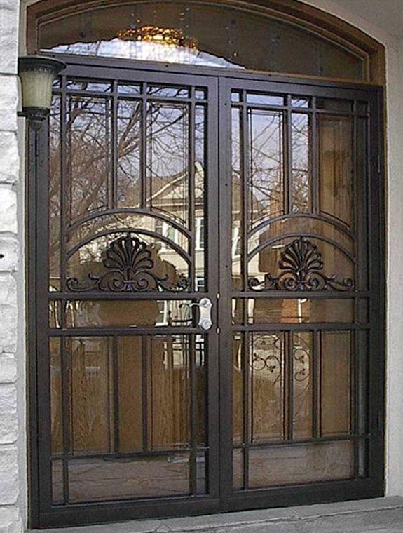 Double Doors Double Front Doors Security Screen Door Double
