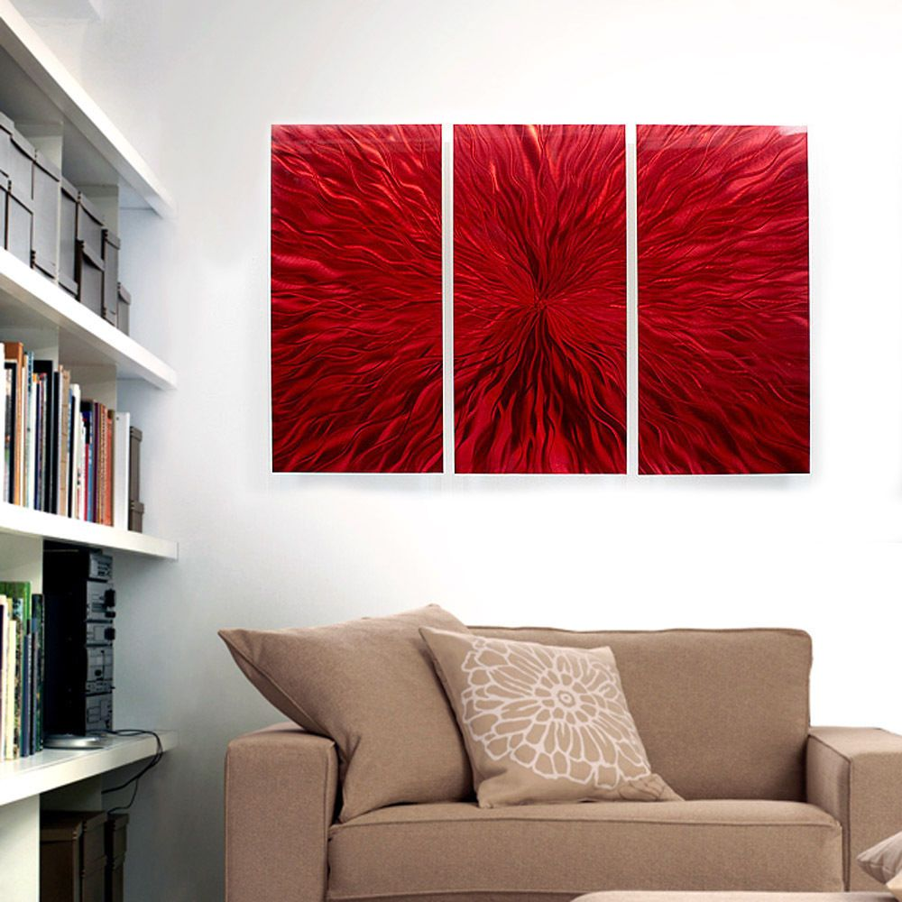 Modern abstract painting metal wall art sculpture heat implosion by jon allen handmade