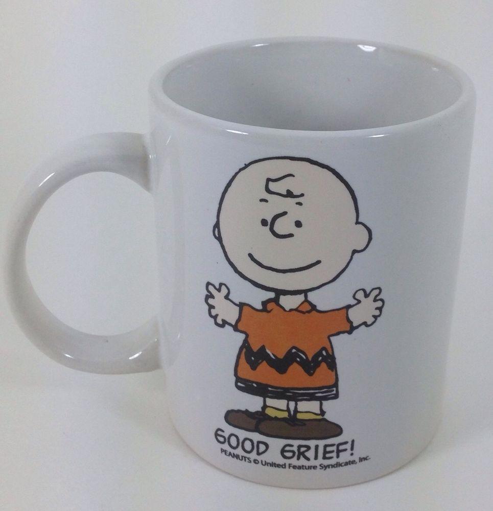 Charlie Brown Peanuts Mug Good Grief Coffee Tea Milk Charles Schultz