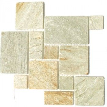 Quartzit Mosaïque Pierre Naturelle Carrelage Opus Couleur Naturelle - carrelage en pierre naturelle salle de bain