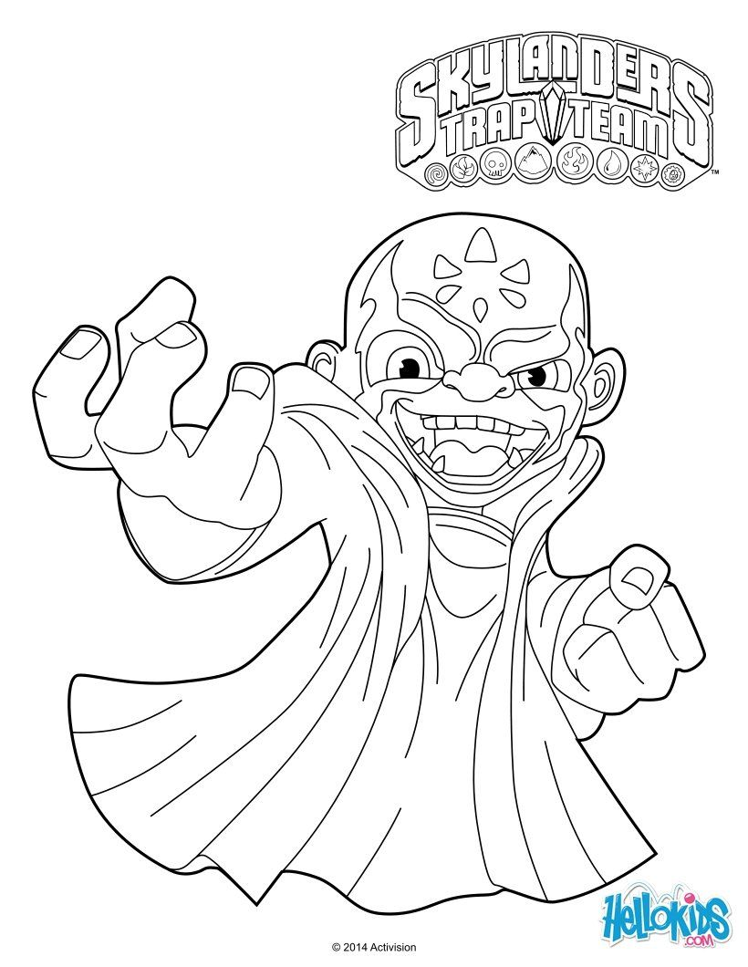 Koas Skylanders Trap Team Coloring Pages More Sheets On Hellokids