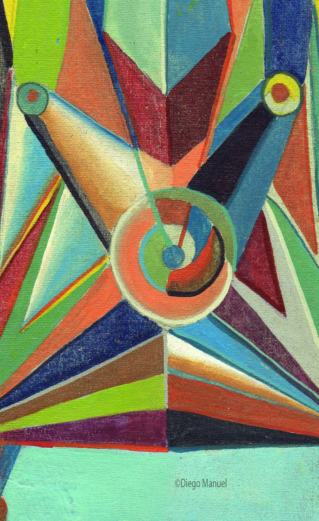 Astrapop 23, acrílico sobre tela, 27,5 x 17 cm. 2015. Abstract colorful painting