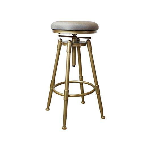 Metal Industrial Counter Barstool With Backrest Adjustable Indoor