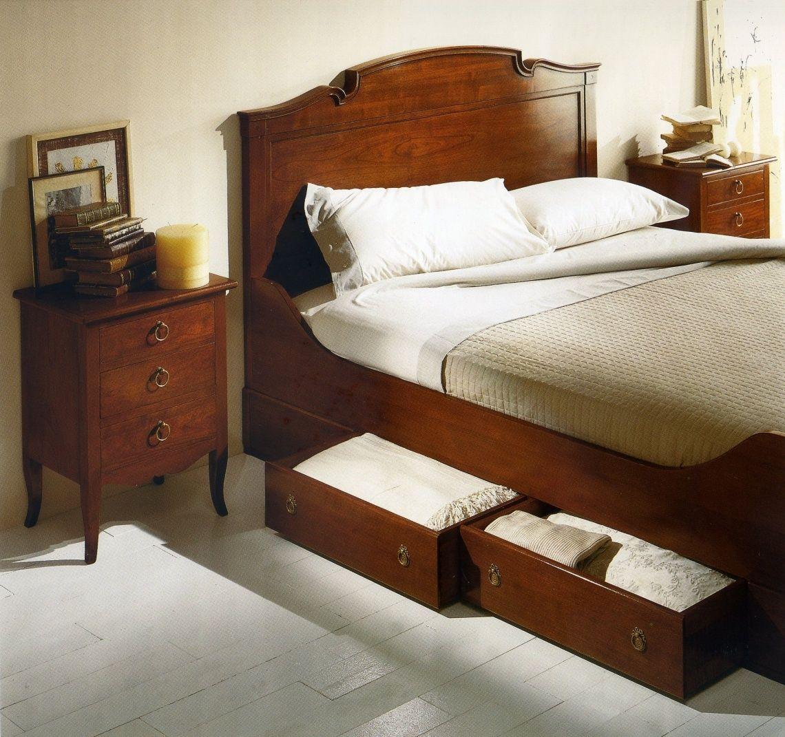 083 cama con cajones abajo en cerezo madera pinterest
