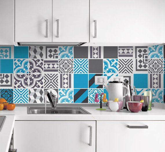 Blue Dreams Tile Decals Tiles Stickers For Kitchen Backsplash Or Bathroom Pack