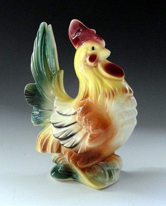 Decorative Arts An Antique Porcelain Dish Depicting A Rooster And Chicks Factory Direct Selling Price