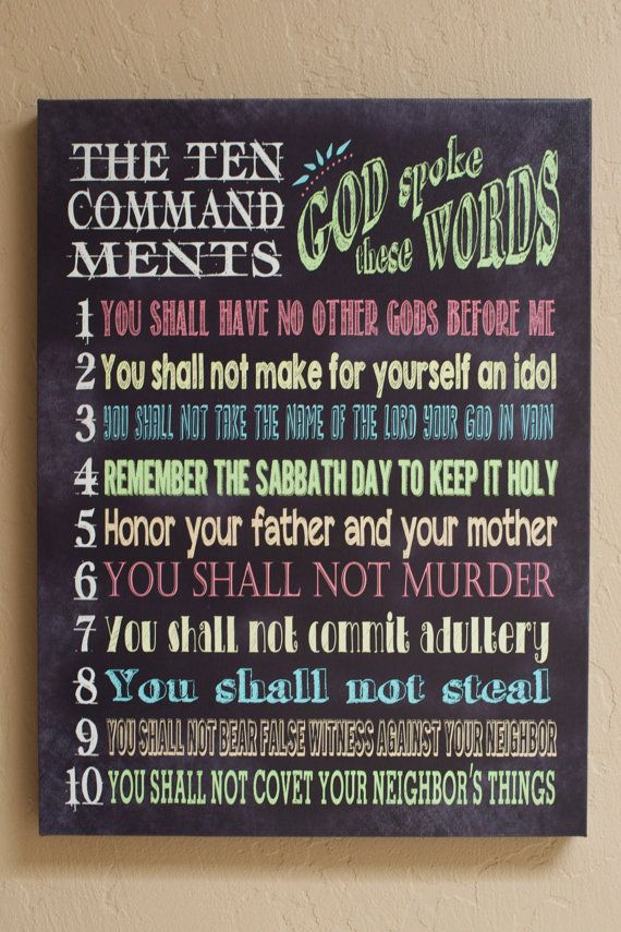 The Amateur Writer: Ten Commandments Printable | Wisdom