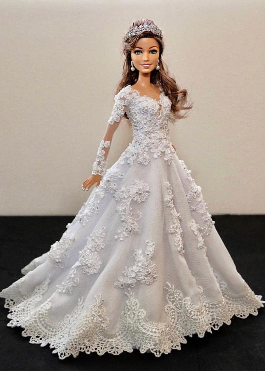 1 4 Sammurakammi Barbie Wedding Dress Barbie Bridal Barbie Bride Doll