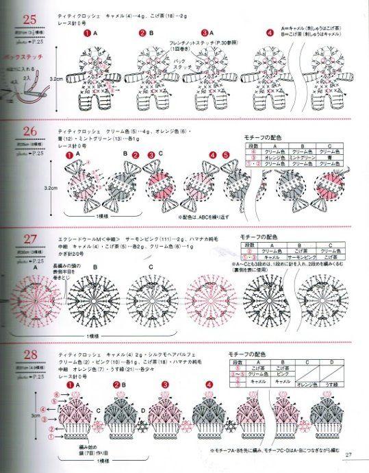 Crochet em miniatura - para borda de encadernação - 02   patrones ...
