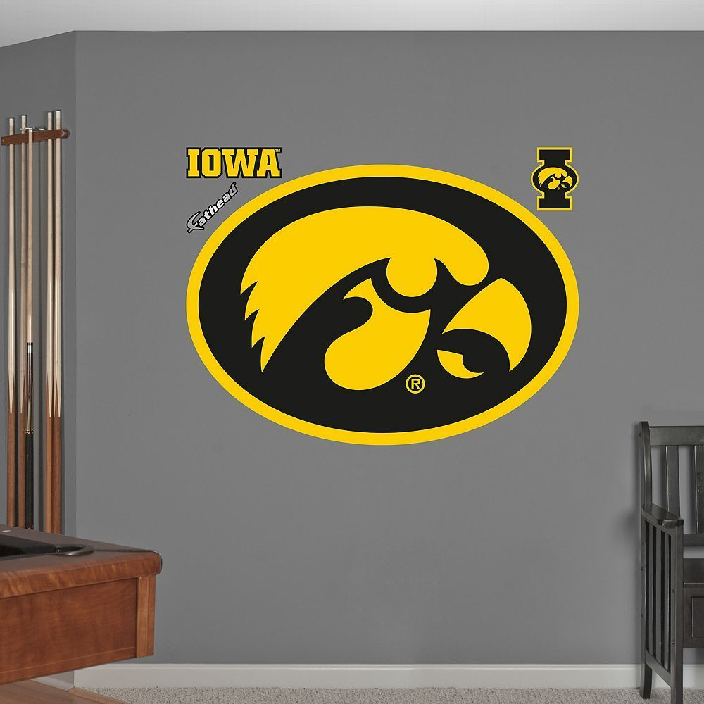 Fathead Iowa Hawkeyes Wall Decals | Iowa, Wall decals and Products