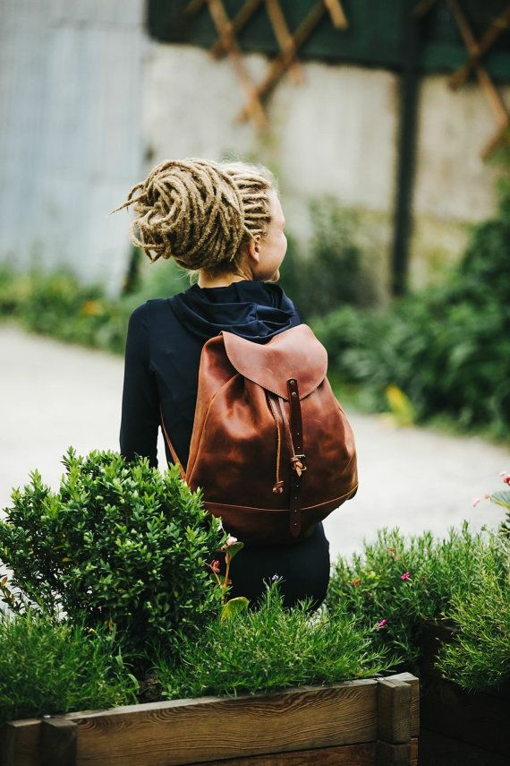 Leather Backpack Woman Backpack Ladies Backpack Backpac By Kruk Garage Women S Daily Pack Small Backpack School Bag Free Personalization Womens Backpack Women Leather Backpack Brown Leather Backpack