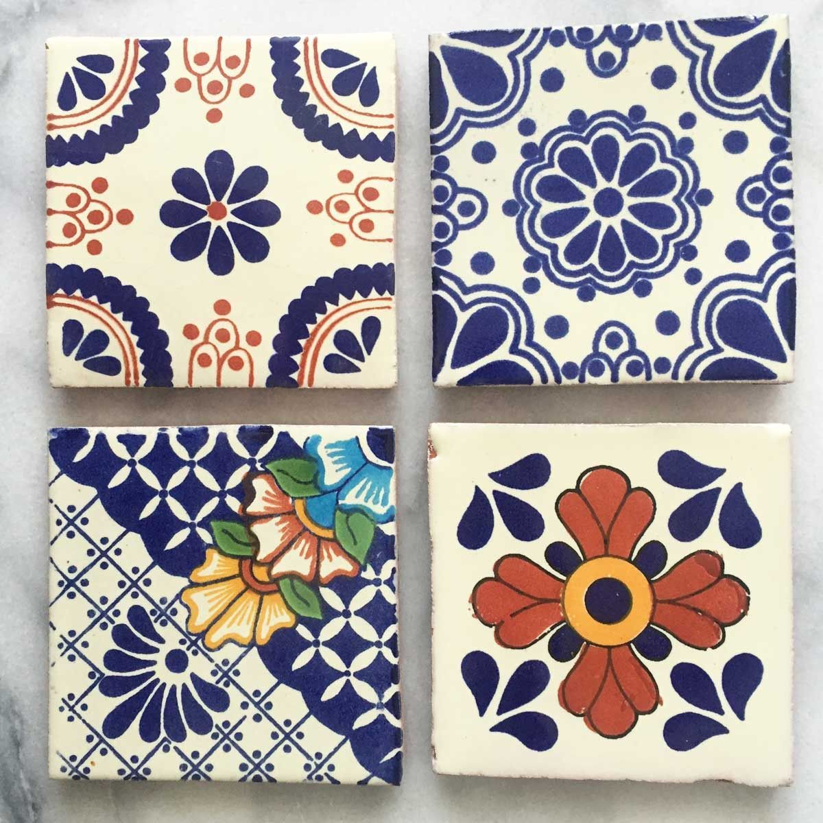 These Mexican Tile Coasters Are The Perfect Gift To Someone Special Or Yourself