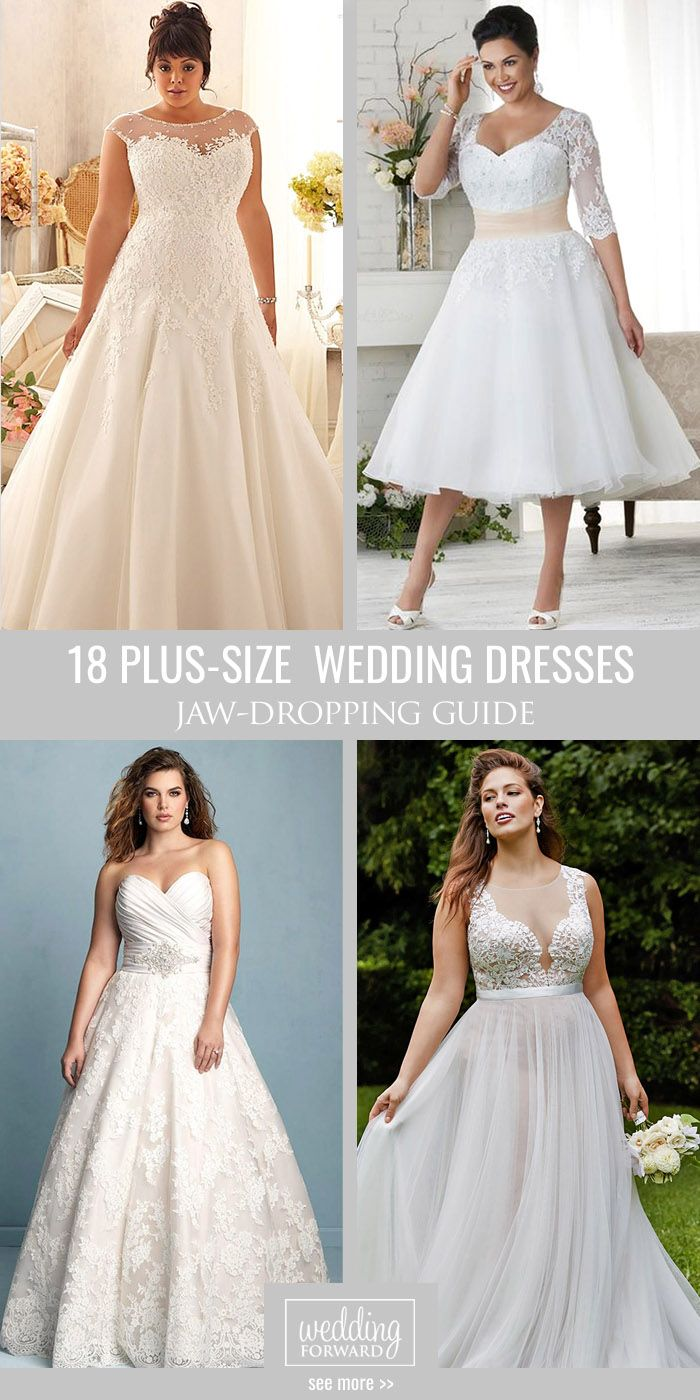 18 Plus-Size Wedding Dresses  A Jaw-Dropping Guide ❤ We have selected 044d343177