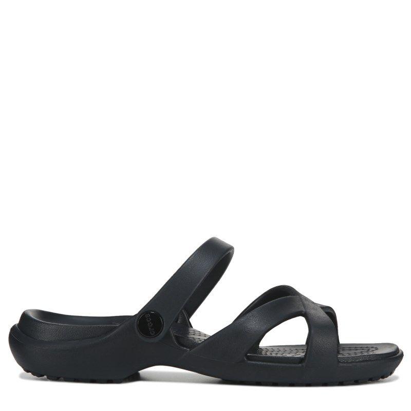 7b8b20fb1 Crocs Women s Meleen Cross Band Slide Sandals (Black)