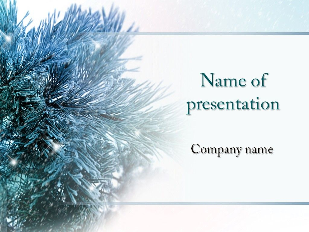 Winter Season Powerpoint Template Powerpoint Templates Pinterest