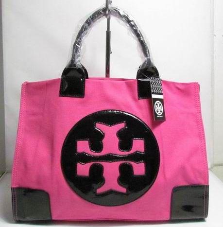 Tory Burch Nylon Ella Tote Rose Black Bags Pinterest Black