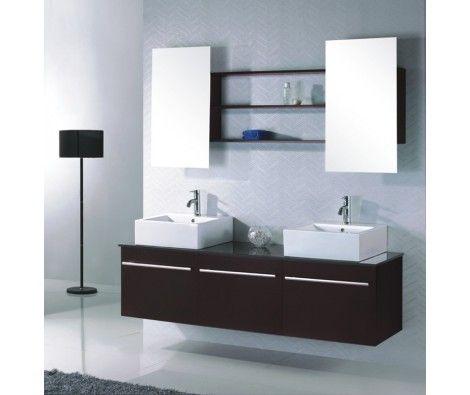 Meuble Salle De Bain Double Vasque Double Miroir B084db Tout Compris 829 00 Mr Br Amenagement Salle De Bain Meuble Vasque Salle De Bains Double Vasque