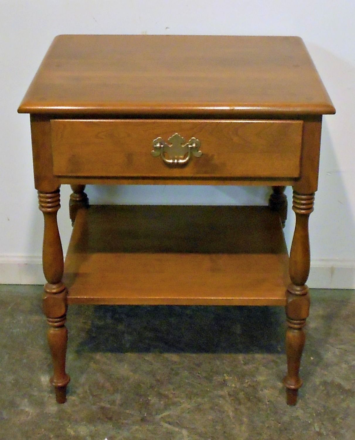 New Ethan Allen Nightstand Maple Furniture Antique Beds Ethan