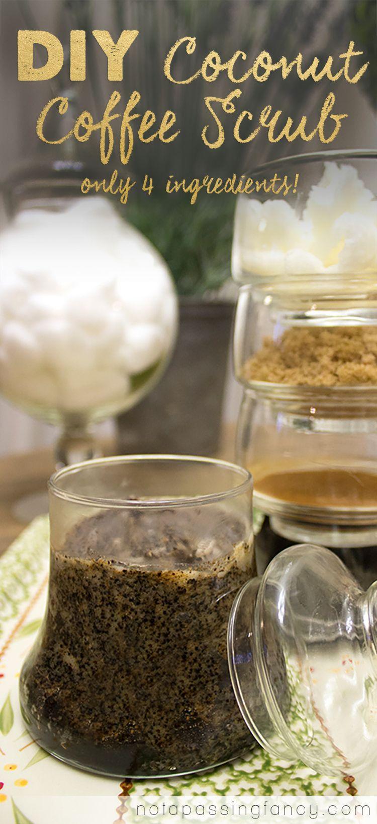 Diy coconut coffee scrub sugar scrub diy homemade