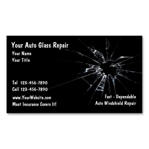 Auto Glass Repair Business Card Zazzle Com Auto Glass Repair Glass Repair Auto Glass