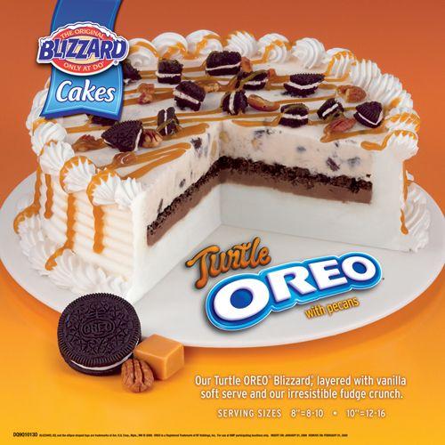 Turtle oreo blizzard cake Ice Cream scream Pinterest
