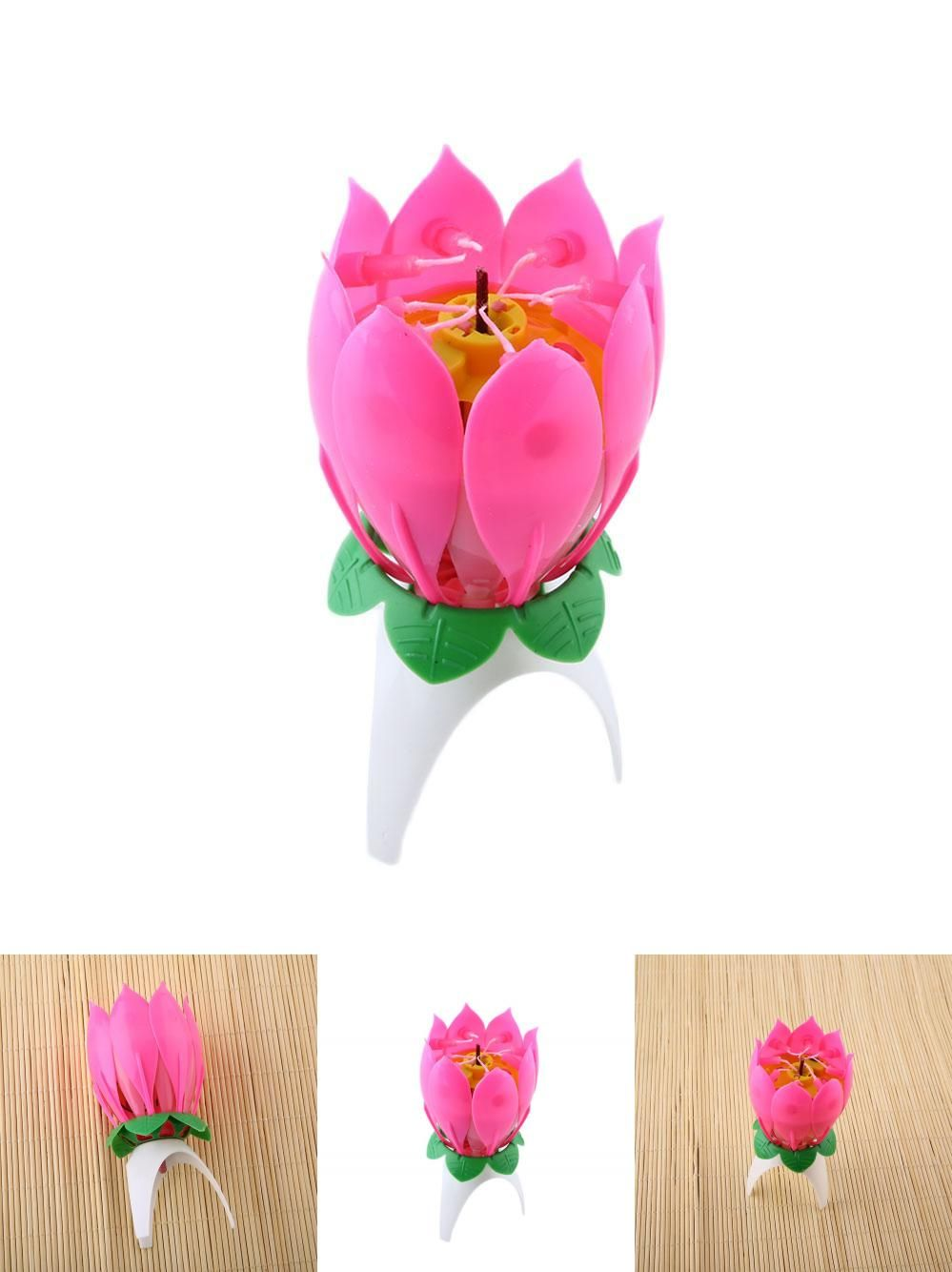 Visit To Buy Romantic Musical Lotus Flower Happy Birthday Party