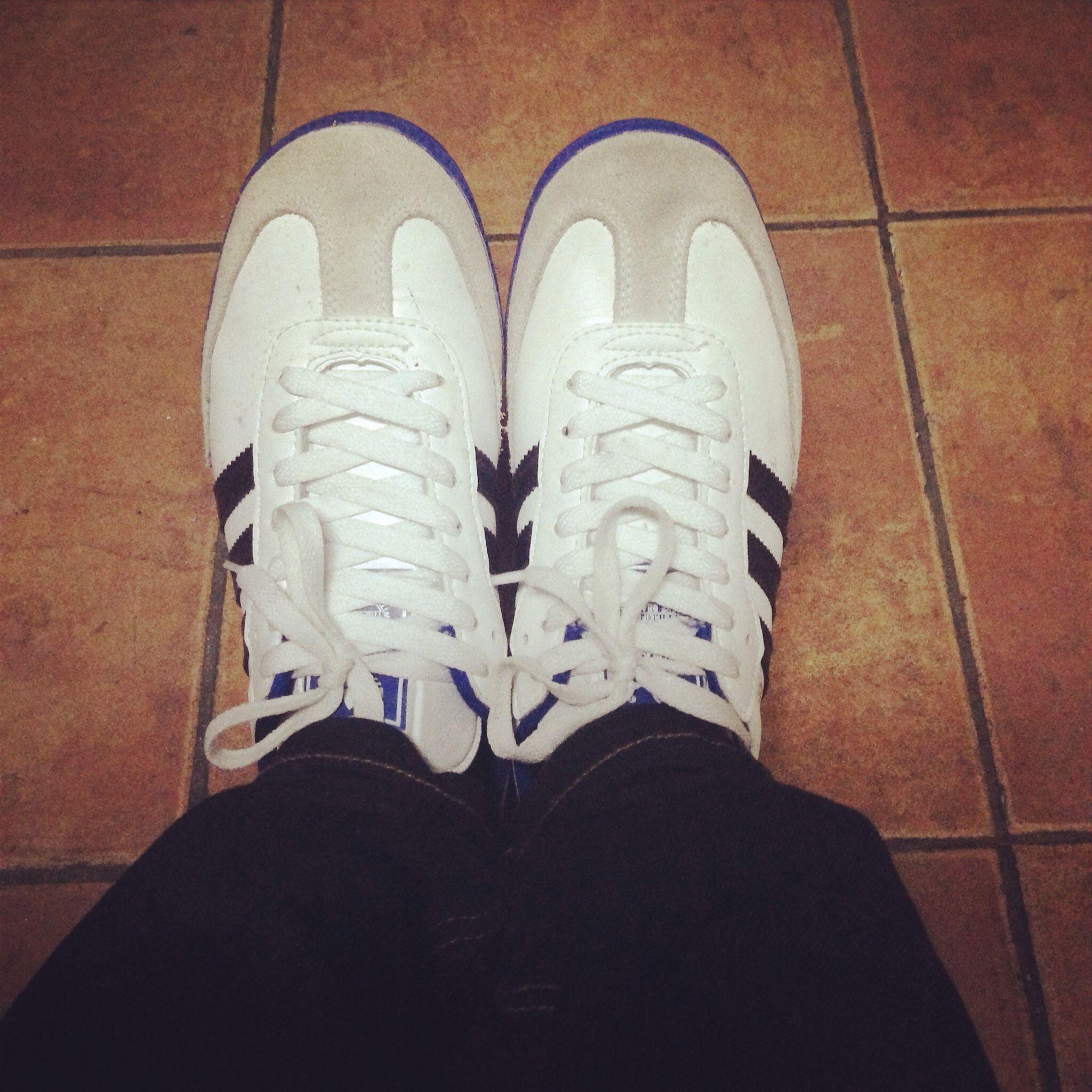 adidas samba blue bianca