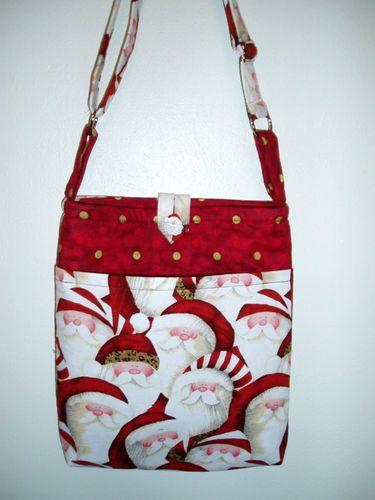 Hipster Santa Handmade Fabric Tote Purse Bag | eBay