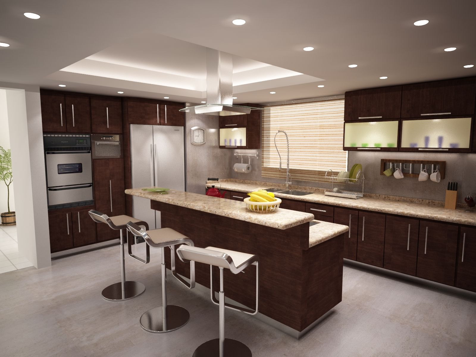 Kitchen design for mancera residence in tijuana d kitchens