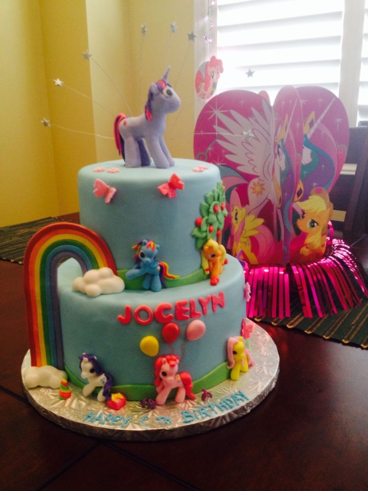 My little pony friendship is magic birthday cake My Childrens