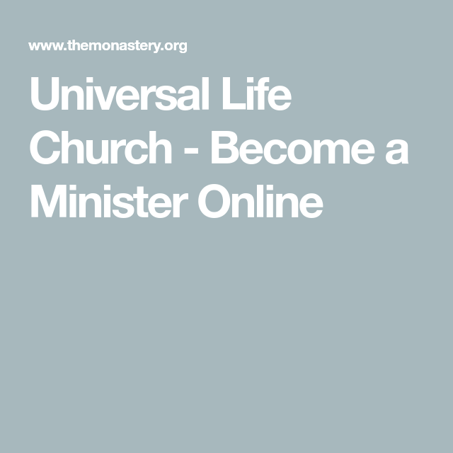 Become A Minister Online