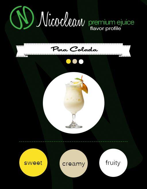 Nicoclean USA Made E Juice, Best E Juice USA, Best E JuicePina Colada E Juice, Delicious USA Made E Juice!