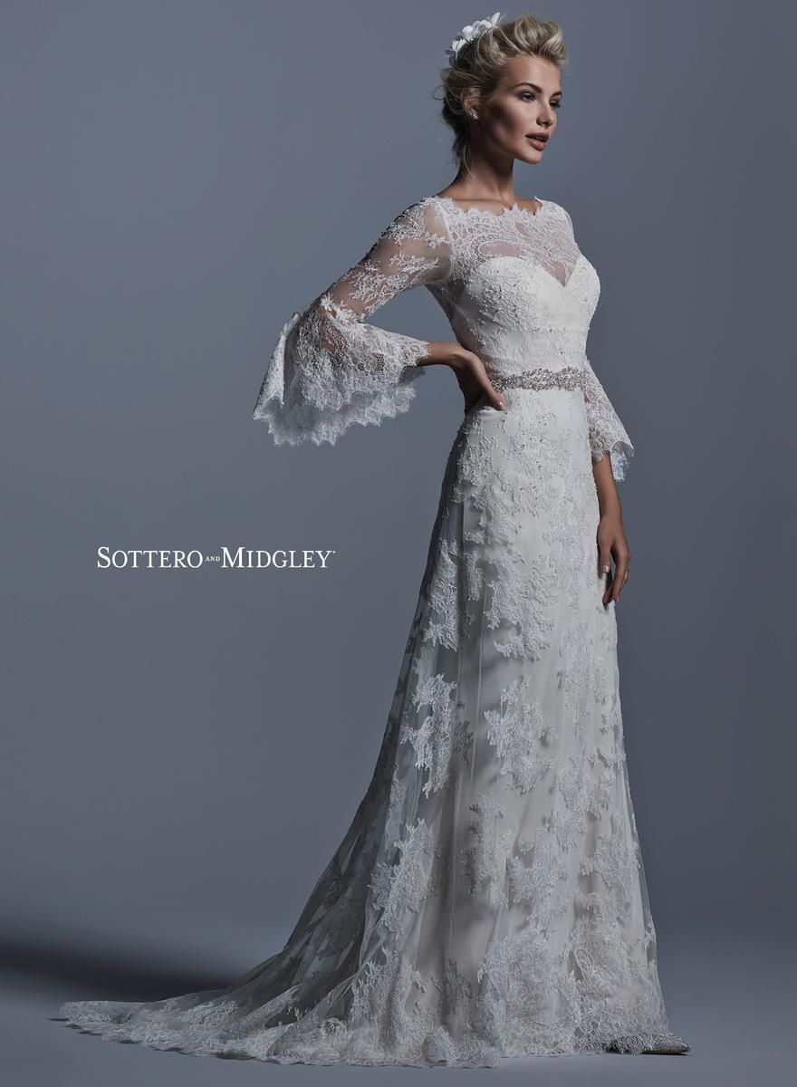 Bohemian romance maggiesottero sotteromidgley wedding dress with