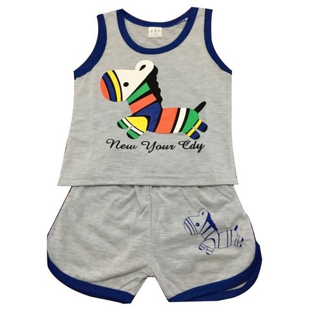 Summer Baby Clothing Set Cotton Vest Shorts Newborn Baby Boy Clothing Sets 0 2 Year Baby Suit Baby Boys Clothes Boy Outfits Baby Boy Clothing Sets Baby Suit