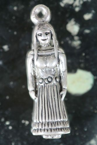 Vintage Solid 925 Sterling Silver Indian Maiden with Papoose Charm | eBay
