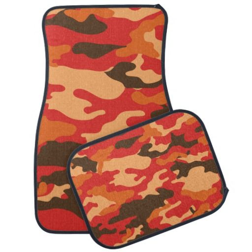 Red and Orange Camouflage Custom Add A Name