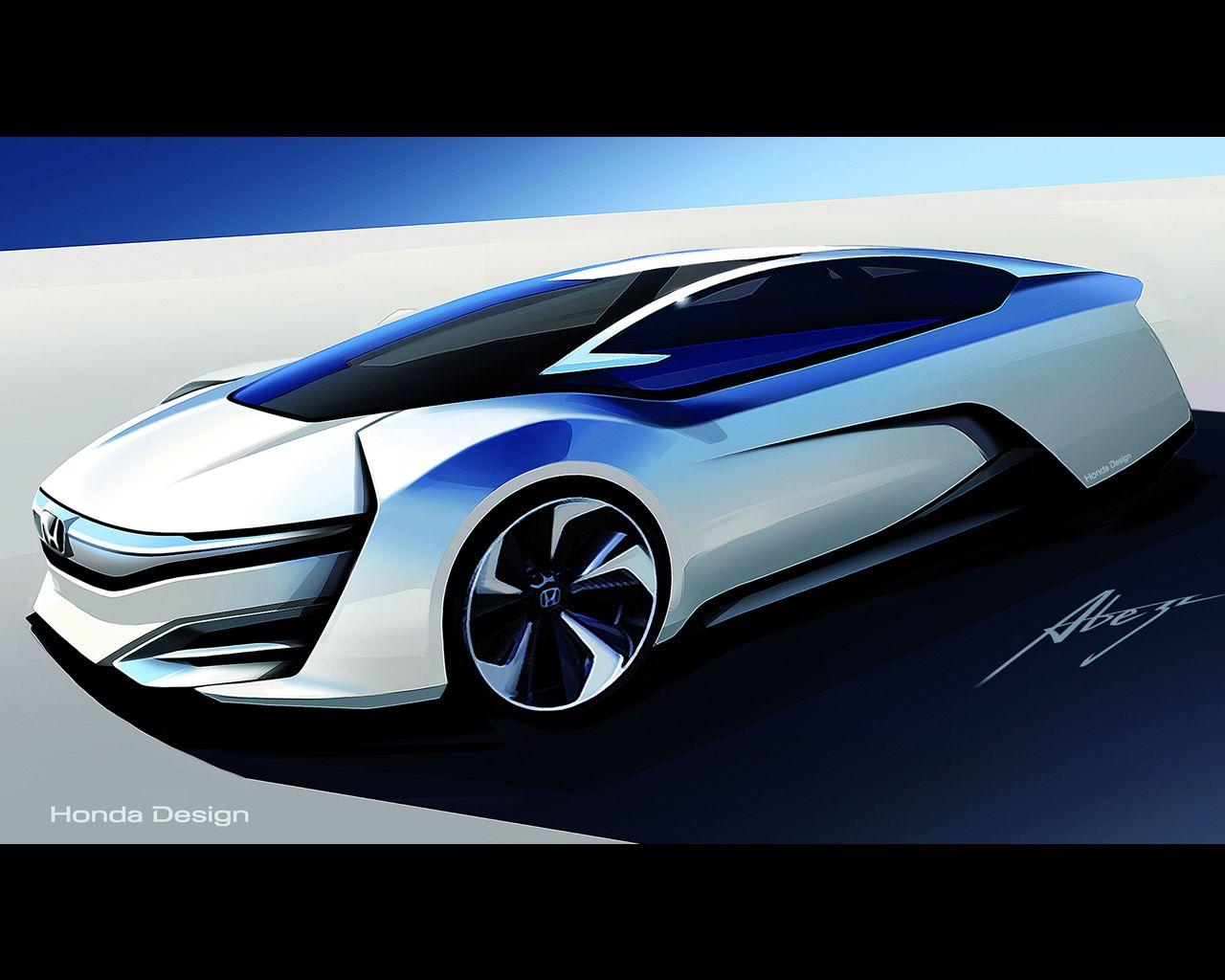 1 Honda Fcv Hydrogen Fuel Cell Vehicle Design Study For 2015 Jpg