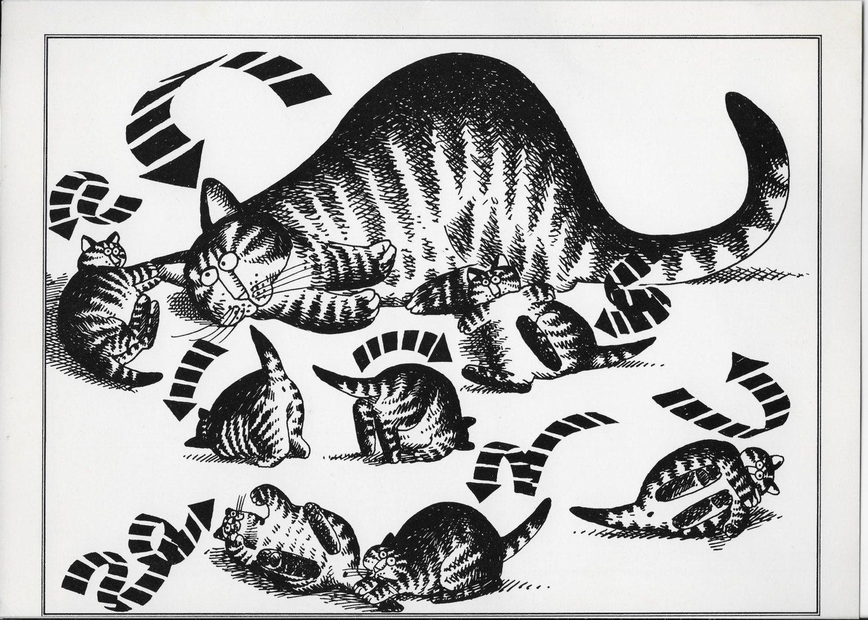 Vintage Kliban Cat Print Funny Cat Art Black And White Cat Cartoon Cat Wall Art 11 X 8 Cat Lover Gifts By Pksprints On Etsy Kliban Cat Cat Wall Art Cat