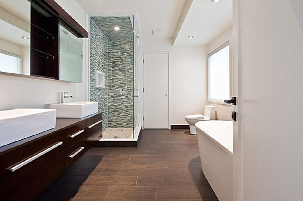 bathroom-porcelain-wood-tile-green-texture-glass-wall-tile-in ...